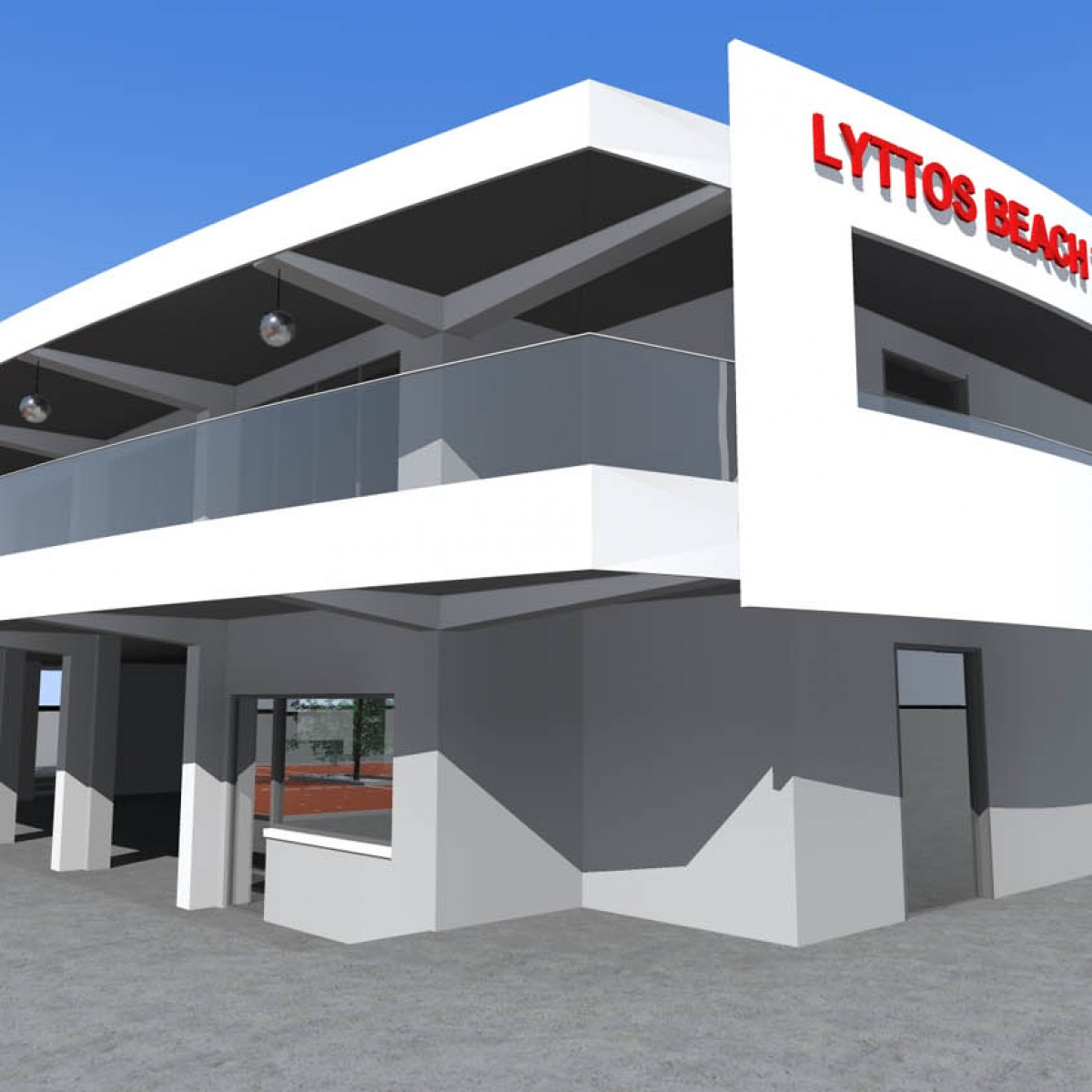 NEW TWO-FLOOR BUILDING WITH BASEMENT (TENNIS ACADEMY) IN LYTTOS BEACH HOTEL