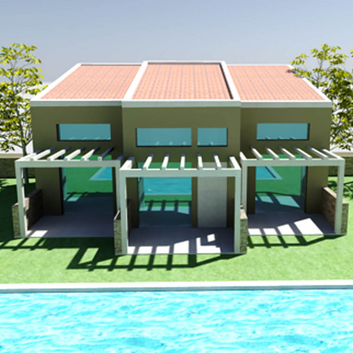 NEW GROUND FLOOR BUILDING WITH ATTIC (HOUSES) & SWIMMING POOL